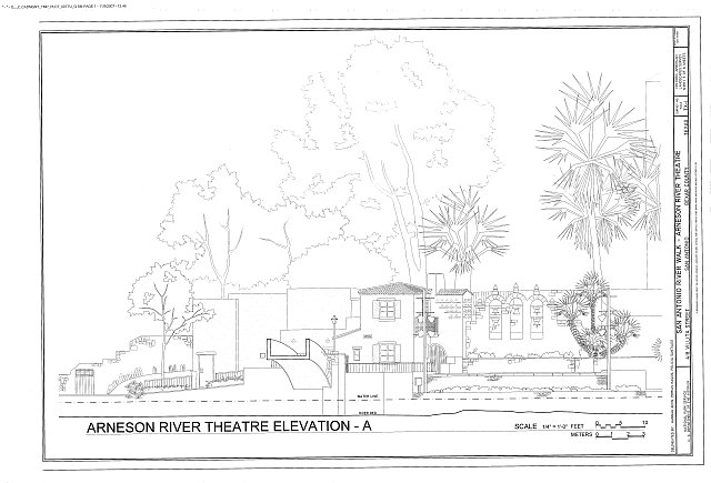 Arneson River Theater Elevation - San Antonio River Walk, 418 Villita Street, San Antonio, Bexar County, TX