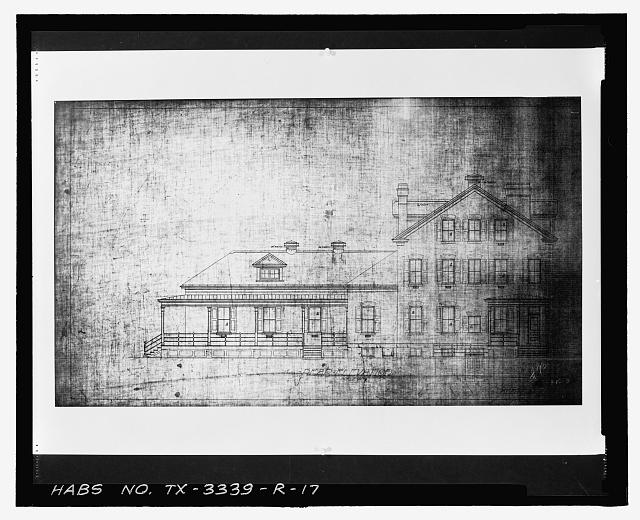Photographic copy of Sheet No. 2 (undated): REAR ELEVATION - Fort Bliss, Post Hospital, Pershing Road, El Paso, El Paso County, TX