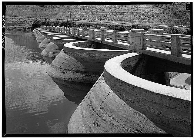 5.  Detail view of tops of upstream arch barrels. - Mountain Dell Dam, Parley's Canyon, Northwest side of I-80, West of State Route 39, Salt Lake City, Salt Lake County, UT