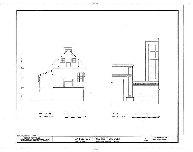 HABS VA,2-SCOTS.V,1- (sheet 7 of 7) - Daniel Scott House, Warren Road, Route 726, Scottsville, Albemarle County, VA