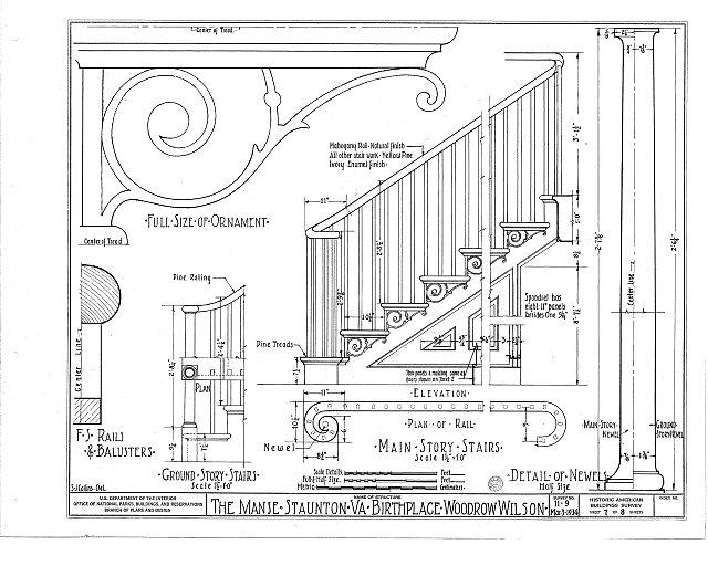HABS VA,8-STAU,2- (sheet 7 of 8) - Manse, Frederick & Coalter Streets, Staunton, Staunton, VA