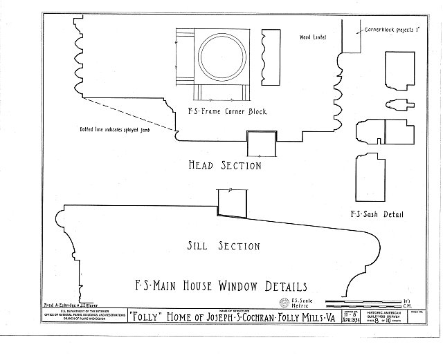 HABS VA,8-STAU.V,1- (sheet 8 of 10) - Folly Farm, Folly Mills Creek, Staunton, Staunton, VA