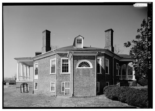 GENERAL VIEW OF LAST ELEVATION WITHOUT SCALE (1986) - Poplar Forest, State Route 661, Forest, Bedford County, VA