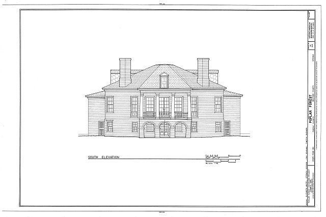 HABS VA,10-BED.V,1- (sheet 9 of 22) - Poplar Forest, State Route 661, Forest, Bedford County, VA
