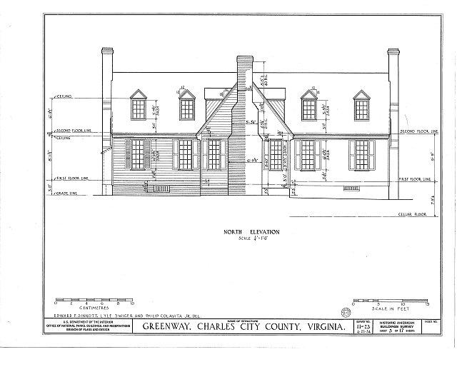 HABS VA,19-CHARC.V,1- (sheet 5 of 17) - Greenway, State Route 5 vicinity, Charles City, Charles City, VA