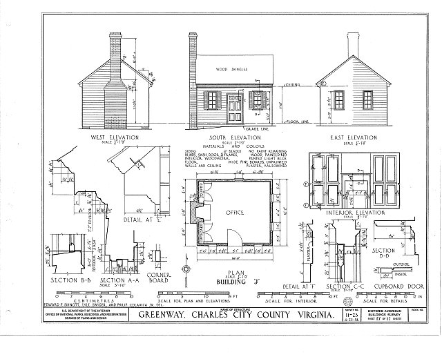HABS VA,19-CHARC.V,1- (sheet 17 of 17) - Greenway, State Route 5 vicinity, Charles City, Charles City, VA