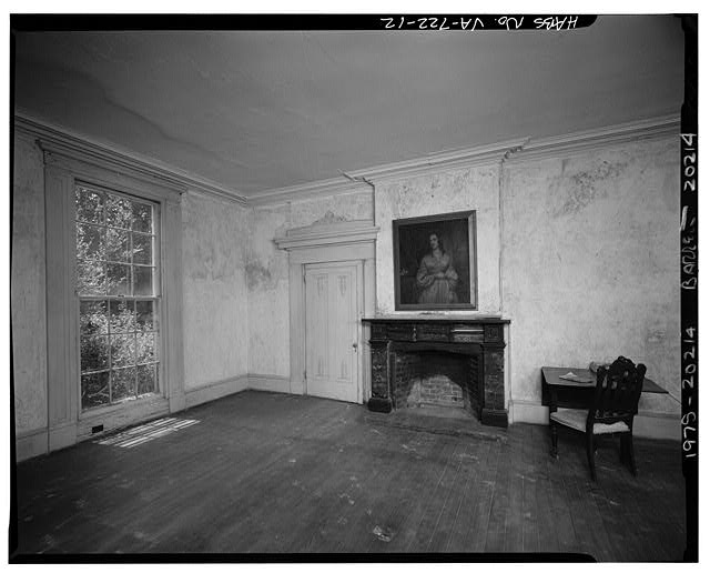 12.  INTERIOR, CENTRAL BLOCK, FIRST FLOOR, WEST ROOM - Sherwood Forest, State Route 5 vicinity, Charles City, Charles City, VA
