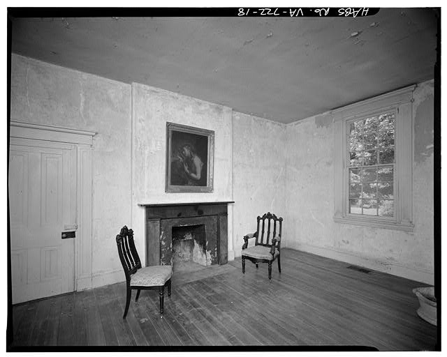 18.  INTERIOR, WESTERN WING, FIRST FLOOR, SHOWING FIREPLACE - Sherwood Forest, State Route 5 vicinity, Charles City, Charles City, VA