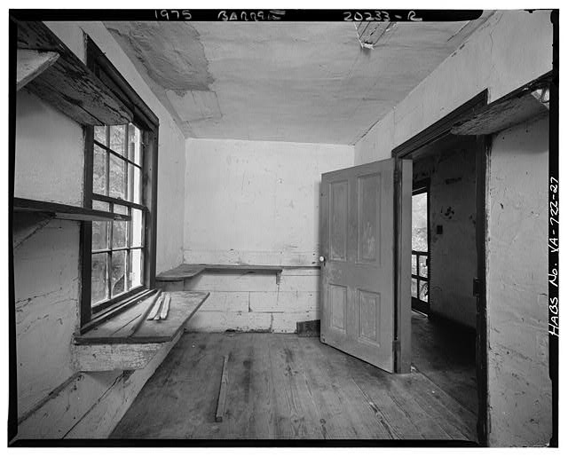 27.  INTERIOR, EASTERN HYPHEN, A SECOND ROOM, ALSO SHOWING VIEW INTO HALL - Sherwood Forest, State Route 5 vicinity, Charles City, Charles City, VA