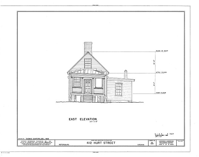 HABS VA,27-PET,23A- (sheet 4 of 8) - Pig Alley Block Study, 412 Hurt Street (Store), Petersburg, Petersburg, VA