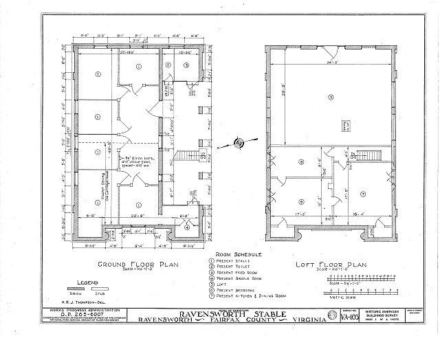 HABS VA,30-RAV.V,1- (sheet 1 of 4) - Ravensworth, House & Stable, 5200 Port Royal Road, Ravensworth, Fairfax County, VA