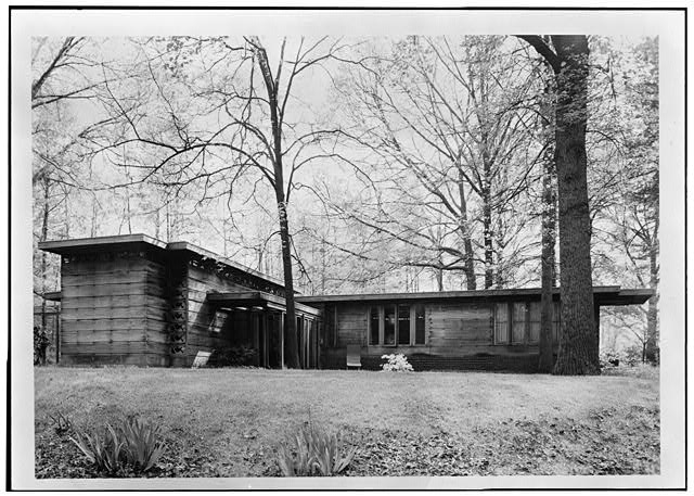 1.  East elevation - Pope-Leighey House, 9000 Richmond Highway (moved from Falls Church, VA), Mount Vernon, Fairfax County, VA