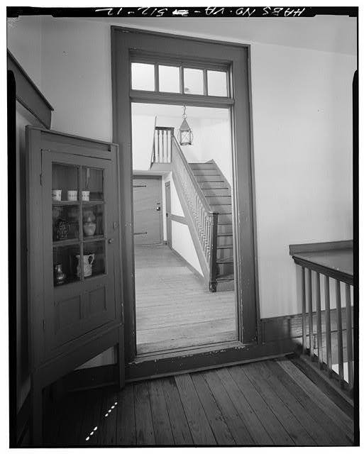12.  LOOKING FROM SECOND FLOOR STAIRHALL LOCATED AT SOUTHWEST CORNER OF HOUSE TO STAIRHALL AT NORTHWEST CORNER - Gloucester Women's Club, U.S. Route 17 & State Route 14, Gloucester, Gloucester County, VA