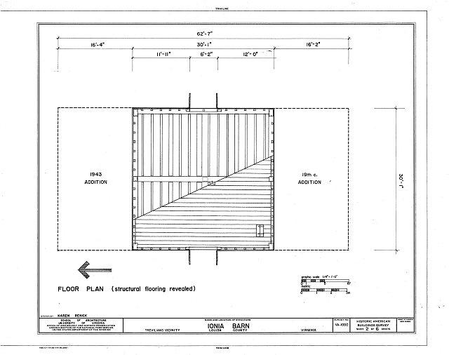 HABS VA,55-TREV.V,7D- (sheet 2 of 6) - Ionia, Barn, Route 640 vicinity, Trevilians, Louisa County, VA
