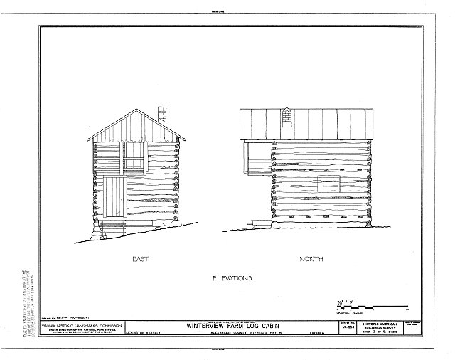 HABS VA,82-LEX.V,2- (sheet 2 of 5) - Winterview Farm Log Cabin, Interstate Highway 81, Lexington, Lexington, VA