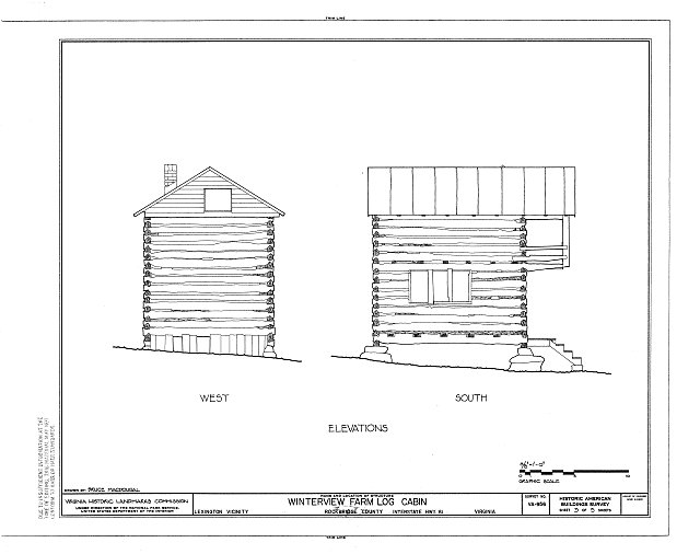 HABS VA,82-LEX.V,2- (sheet 3 of 5) - Winterview Farm Log Cabin, Interstate Highway 81, Lexington, Lexington, VA