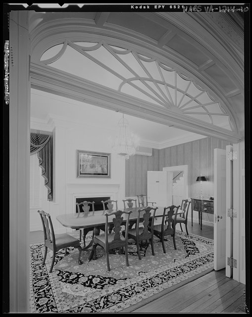 Breakfast room, north wing, first floor, view looking southwest - Montpelier, 13480 South Montpelier Road, Montpelier Station, Orange County, VA