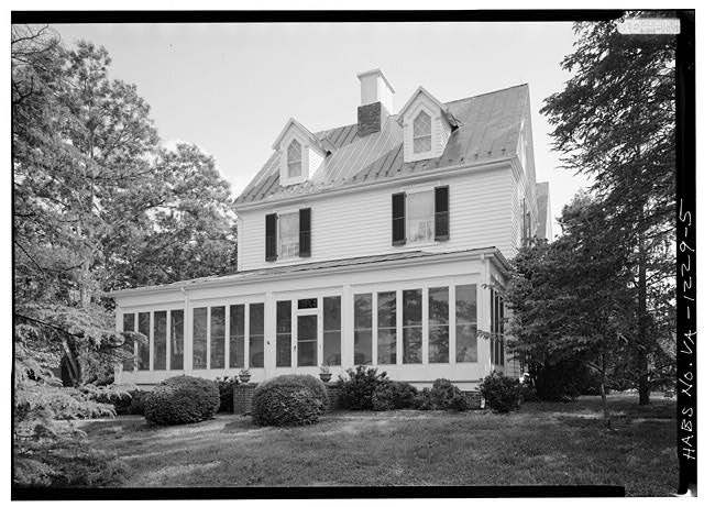 5.  NORTH SIDE - Kenmuir (Main House), Route 613, Trevilians, Louisa County, VA