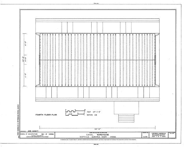 HABS VA,2-SCOTS,9- (sheet 5 of 9) - Canal Warehouse, Scottsville, Albemarle County, VA