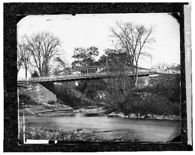 1.  Photocopy of photograph (Original print in possession of Woodstock Historical Society) Reproduced by permission VIEW LOOKING EAST - Elm Street Bridge, Spanning Ottauquechee River, Woodstock, Windsor County, VT