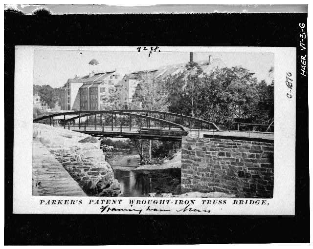 6.  Photocopy of photograph (Original print in possession of the Division of Mechanical and Civil Engineering, Smithsonian Institute) SIMILAR BRIDGE IN FRAMINGHAM MASSACHUSETTS - Elm Street Bridge, Spanning Ottauquechee River, Woodstock, Windsor County, VT