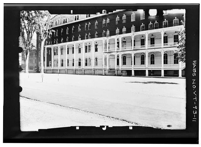 11.  WEST ELEVATION, NORTH PORTION--ANGLED Copy photograph of photogrammetric plate LC-HABS-GS05-S-206-04L. - Pavilion Hotel, State Street, Montpelier, Washington County, VT