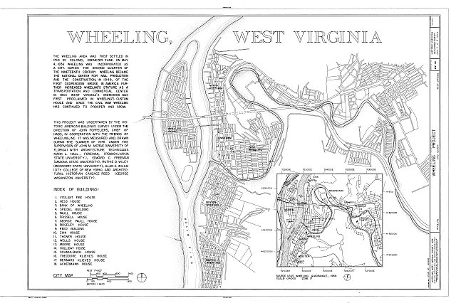 HABS WVA,35-WHEEL,6- (sheet 1 of 1) - Wheeling Project, 1976, Wheeling, Ohio County, WV