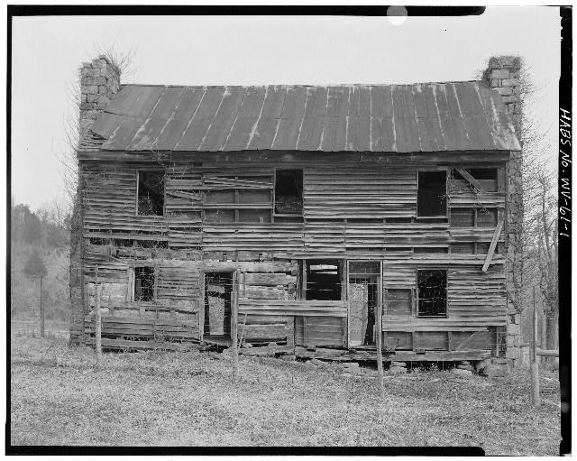 1.  (5 x 7 enlargement from 4 x 5 negative) VIEW NORTH SHOWING SOUTH ELEVATION - Sites Homestead, Monongahela National Forest (Tract 390) East of Route 28, Seneca Rocks, Pendleton County, WV