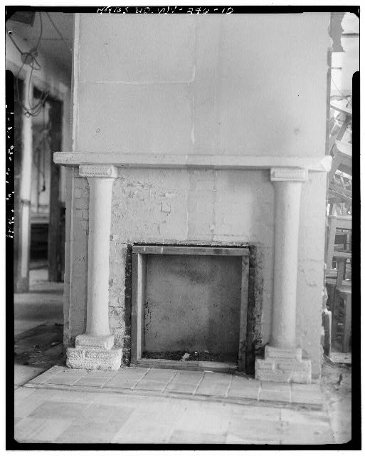 10.  FIRST FLOOR, FIREPLACE - Alderson-Broaddus College, Whitescarver Hall, West side of U.S. 119/250, North of covered bridge, Philippi, Barbour County, WV