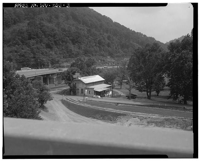 3.  View southeast, north and west sides - Campbells Creek Coal Company Store, 54 Port Amherst Drive, Campbells Creek vicinity, Charleston, Kanawha County, WV