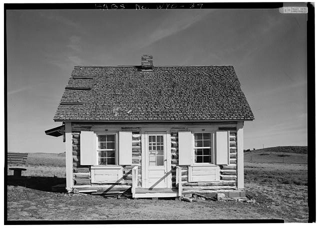 WEST ELEVATION - Libby Cabin, State Route 28, (moved from South Pass City vicinity), South Pass City, Fremont County, WY