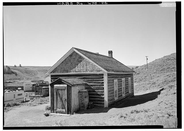 General view from northeast. - School House, South Pass Avenue near Jefferson Street, South Pass City, Fremont County, WY