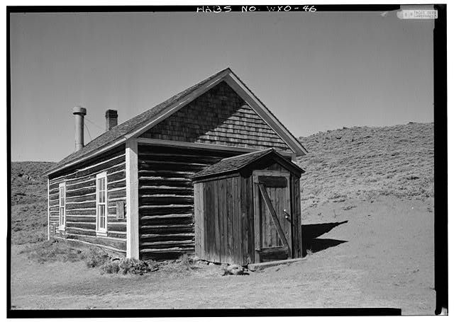 Closer view from southeast. - School House, South Pass Avenue near Jefferson Street, South Pass City, Fremont County, WY