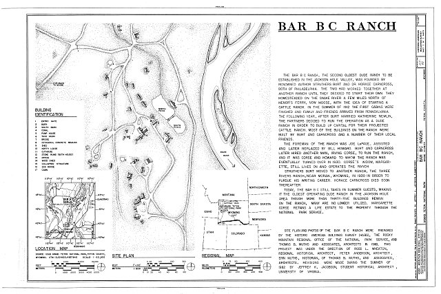Site Plan - Bar B C Ranch, Moose, Teton County, WY