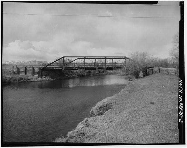 2.  VIEW FROM WEST TOWARD EAST WEB - Peloux Bridge, Spanning Clear Creek on County Road No. 40, Buffalo, Johnson County, WY