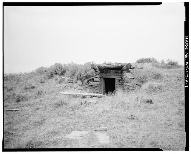 1.  ENTRANCE, VIEW TO SOUTHWEST - Rock Well Homestead, Dugout, 15 miles Southeast of Wright, Wright, Campbell County, WY
