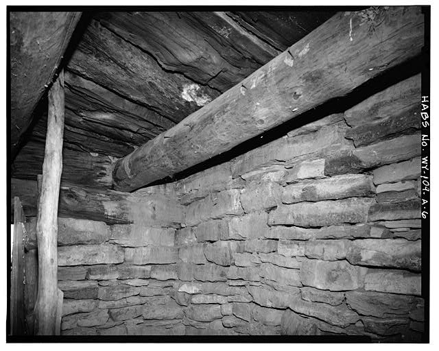 6.  INTERIOR, SOUTHEAST CORNER - Rock Well Homestead, Dugout, 15 miles Southeast of Wright, Wright, Campbell County, WY