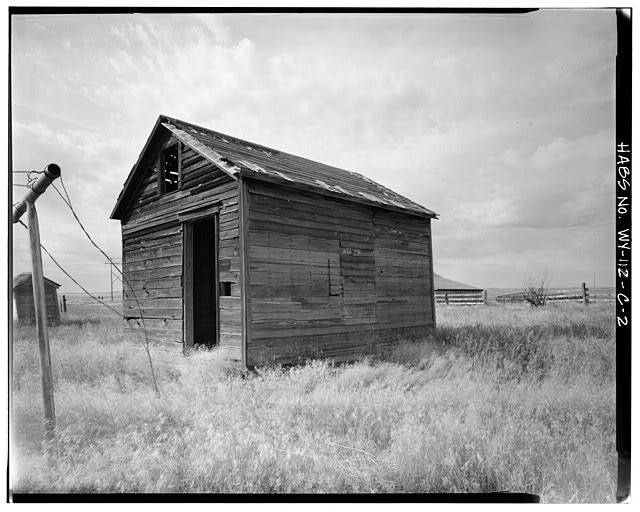 2.  EAST FRONT AND NORTH SIDE - Dunlap Ranch, Bunkhouse, Gillette, Campbell County, WY