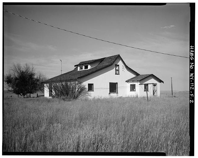 2.  WEST SIDE AND SOUTH REAR - Dunlap Ranch, Homestead House, Gillette, Campbell County, WY