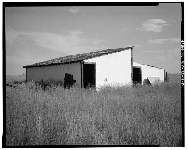 2.  NORTH REAR AND WEST SIDE - Dunlap Ranch, Chicken House-Storage, Gillette, Campbell County, WY