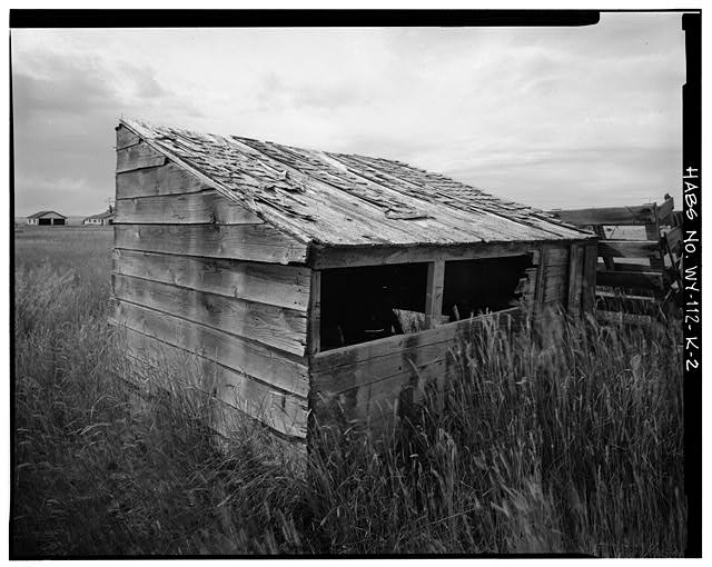 2.  EAST SIDE AND NORTH REAR - Dunlap Ranch, Chicken Coop, Gillette, Campbell County, WY