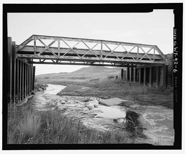 South side of bridge, view to south-southwest - North Fork of Crazy Woman Creek Bridge, Spanning North Fork of Crazy Woman Creek at Middle Fork Road, Buffalo, Johnson County, WY