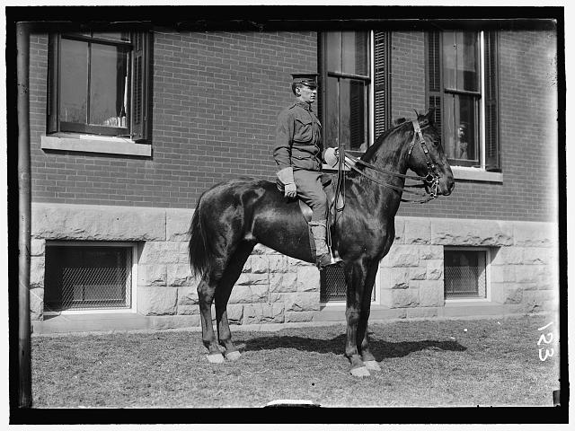 FORT MYER. UNIDENTIFIED OFFICER ON HORSEBACK