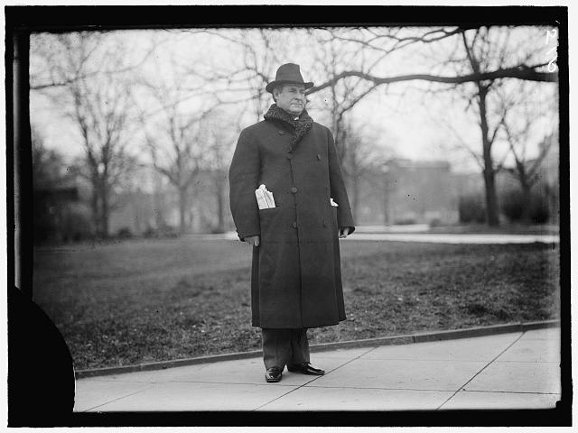 BRYAN, WILLIAM JENNINGS. REP. FROM NEBRASKA, 1891-1895; SECRETARY OF STATE, 1913-1915