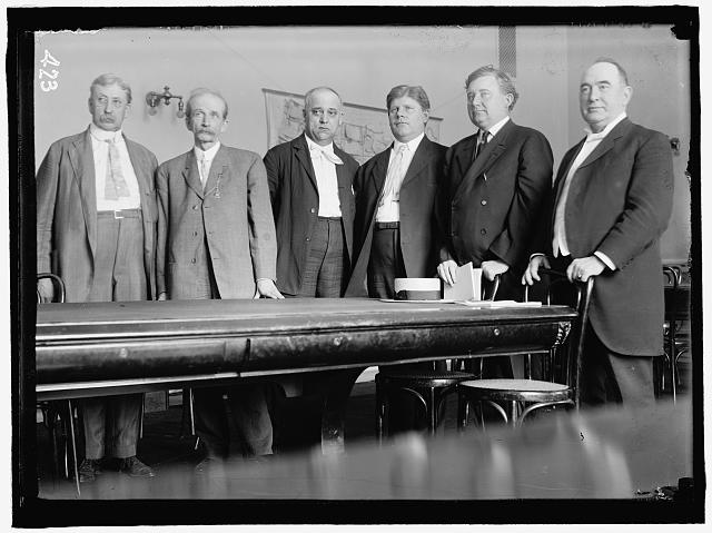 HOUSE OF REPRESENTATIVES COMMITTEES. SPECIAL COMMITTEE ON THE INVESTIGATION OF THE U.S. STEEL CORP., JANUARY 12, 1912. POPULARLY CALLED 'STEEL TRUST INVESTIGATING COMMITTEE' OR 'STANLEY COMMITTEE.' YOUNG OF MI; BARTLETT OF GA; STANLEY OF KY, CHAIRMAN; BEALL OF TX; LITTLETON OF NY; McGILLICUDDY OF ME.