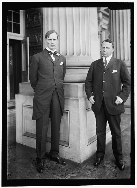 COX, JAMES MIDDLETON. REPRESENTATIVE FROM OHIO, 1909-1913, WITH GOVERNOR SULZER OF NEWYORK