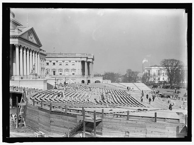 INAUGURAL STANDS AT CAPITOL