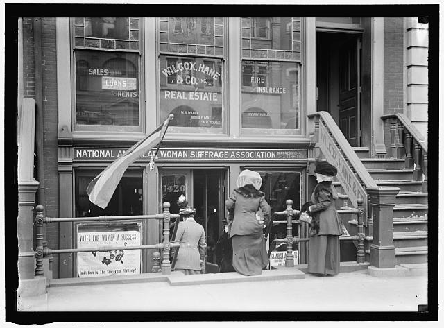 WOMAN SUFFRAGE. HEADQUARTERS, NATIONAL AMERICAN WOMAN SUFFRAGE ASSOCIATION