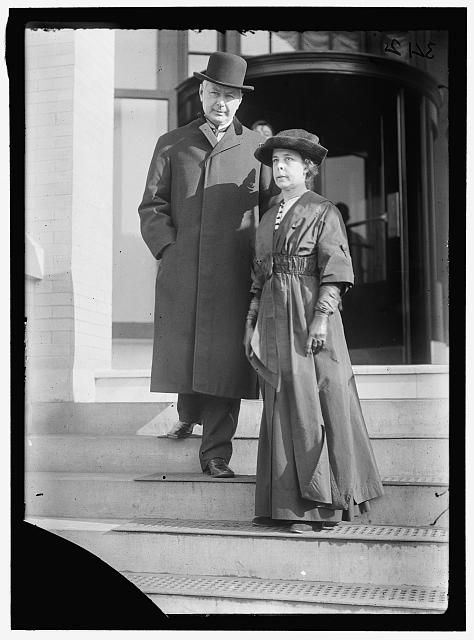 BURLESON, MRS. ALBERT SIDNEY WITH POSTMASTER GENERAL BURLESON