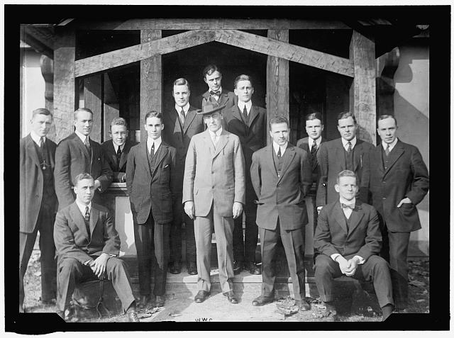 PRINCETON UNIVERSITY STUDENTS WITH WOODROW WILSON